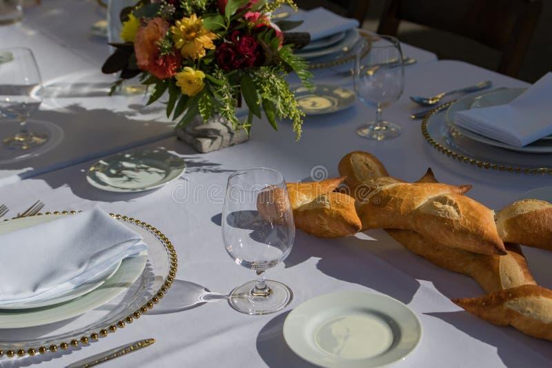 Dinerlijst het Fijne Dineren royalty-vrije stock afbeeldingen