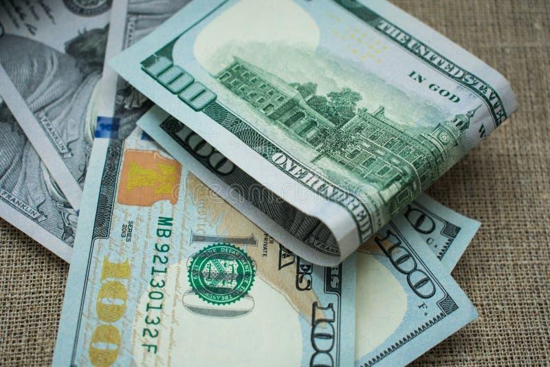 Dinero americano 100 del dólar fotografía de archivo