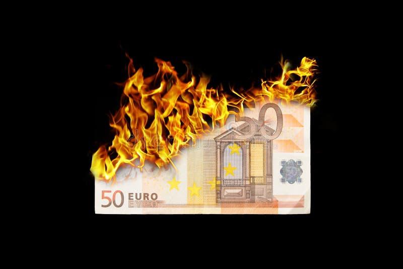 Dinero ardiente stock de ilustración