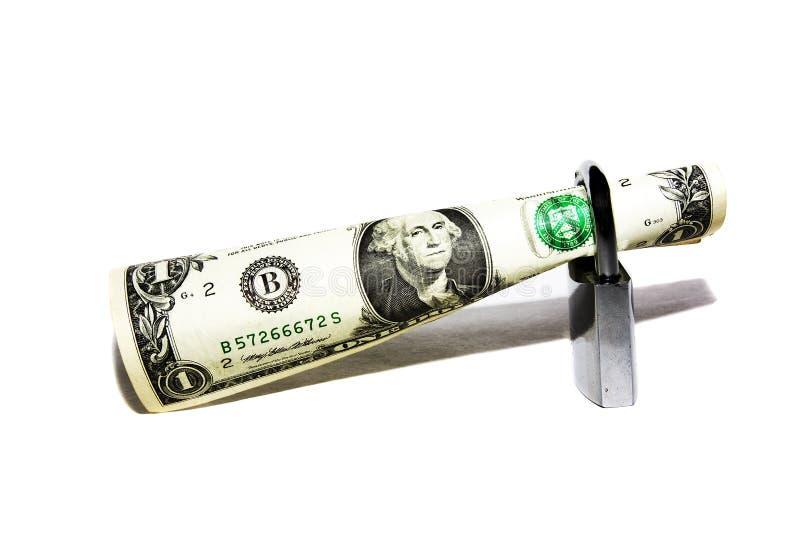 Dinero bajo protección imagen de archivo libre de regalías