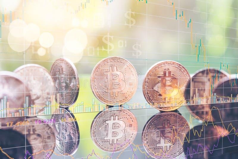 Dinero Bitcoin de Digitaces la foto Bitcoin, intercambia el valor virtual, dinero digital crypto imagen de archivo libre de regalías