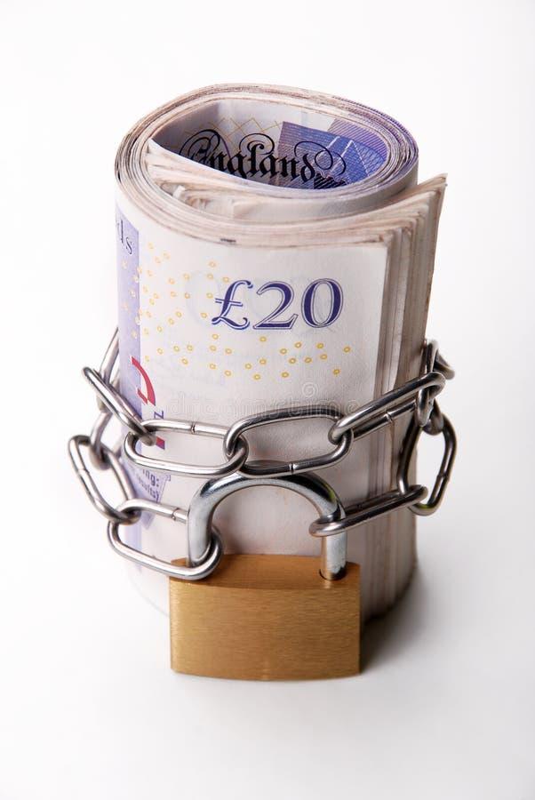 Dinero bloqueado imagen de archivo libre de regalías