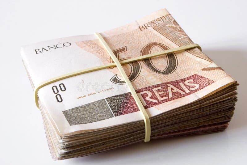 Dinero brasileño - 50 Reais imagenes de archivo