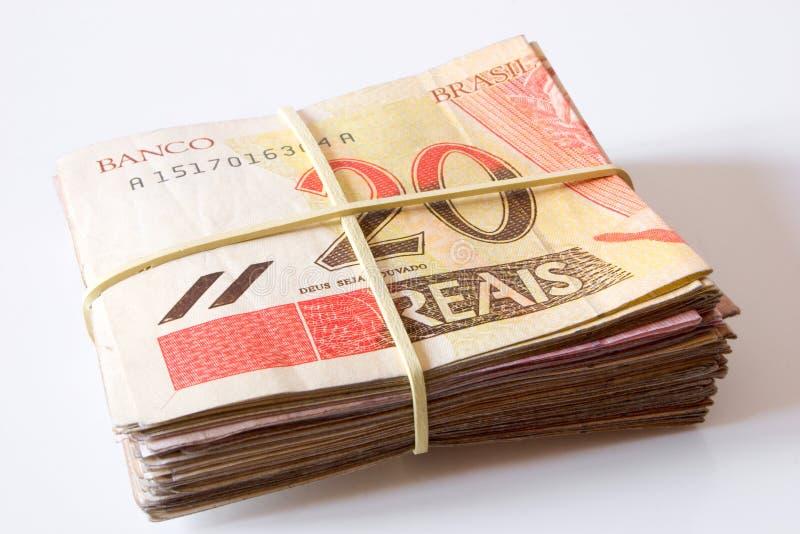 Dinero brasileño - 20 Reais imágenes de archivo libres de regalías