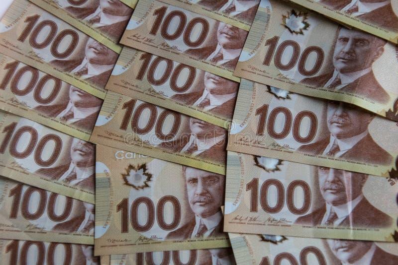 Dinero canadiense fotos de archivo