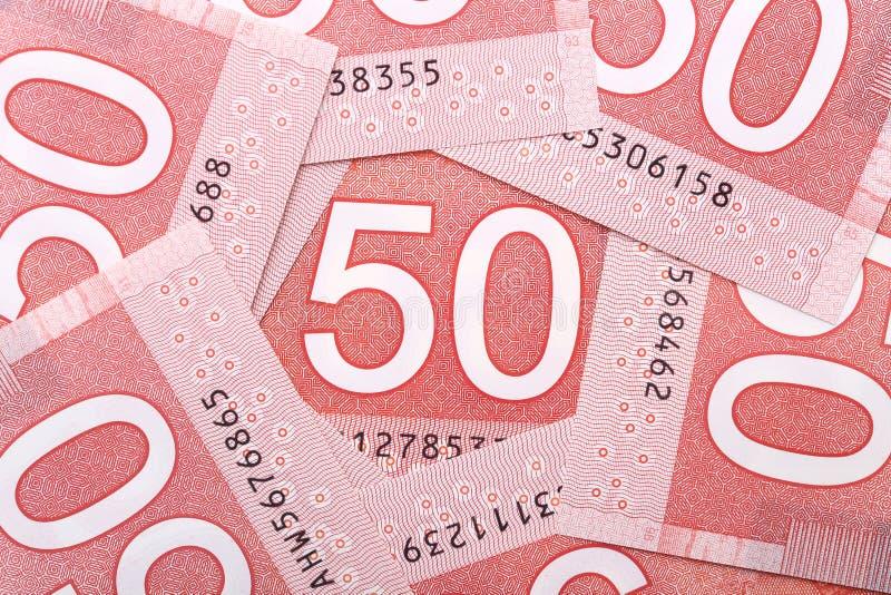 Dinero canadiense imagenes de archivo