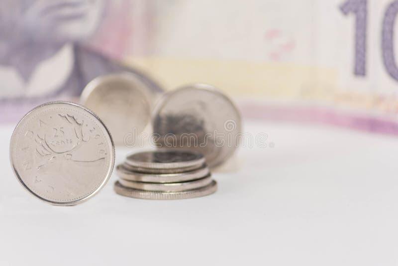 Dinero canadiense imagen de archivo