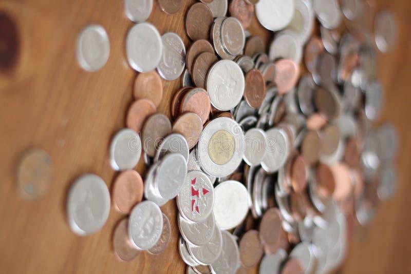 Dinero canadiense foto de archivo