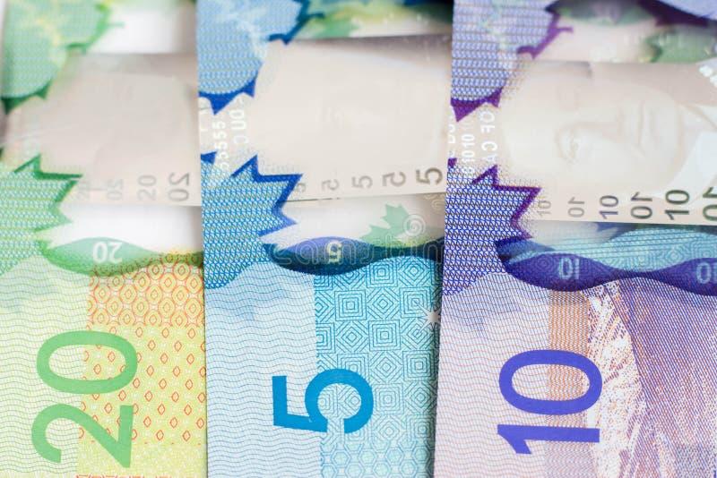 Dinero canadiense fotografía de archivo libre de regalías
