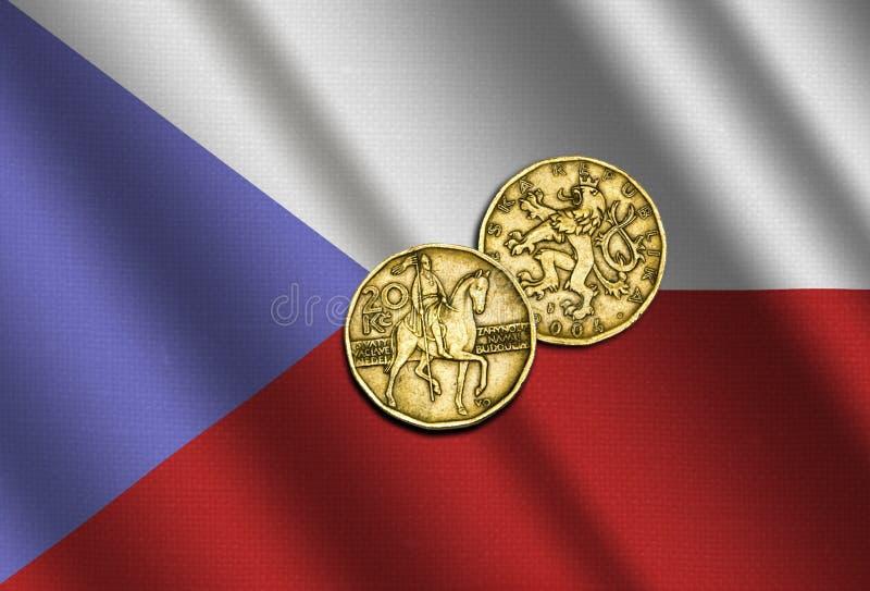 Dinero checo en la bandera libre illustration