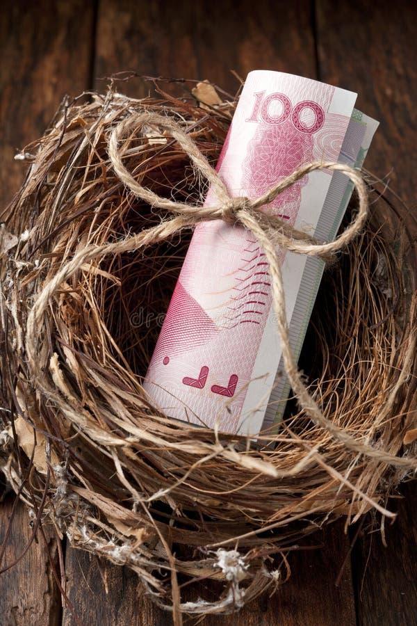 Dinero chino de los ahorros foto de archivo