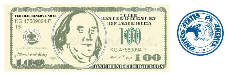 Dinero con el sello redondo libre illustration