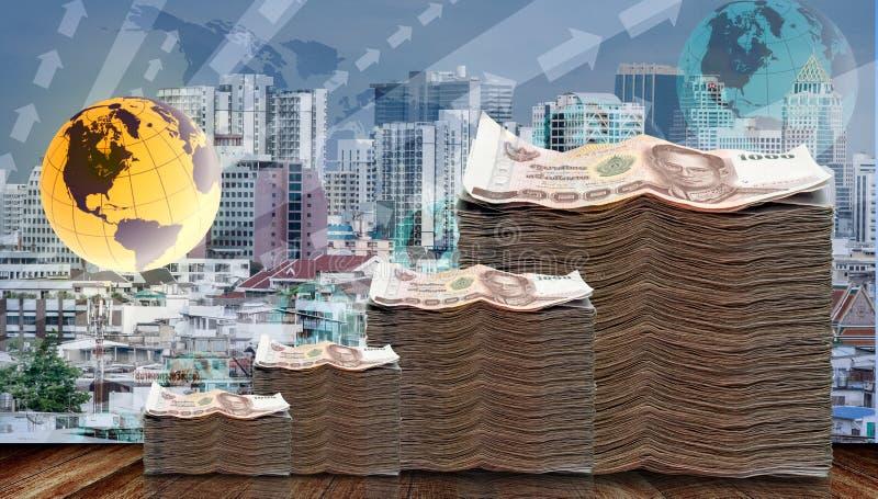 Dinero crecido para arriba en concepto de la inversión ilustración del vector