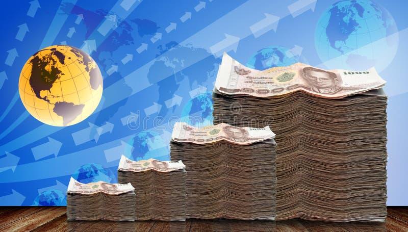 Dinero crecido para arriba en la inversión ilustración del vector