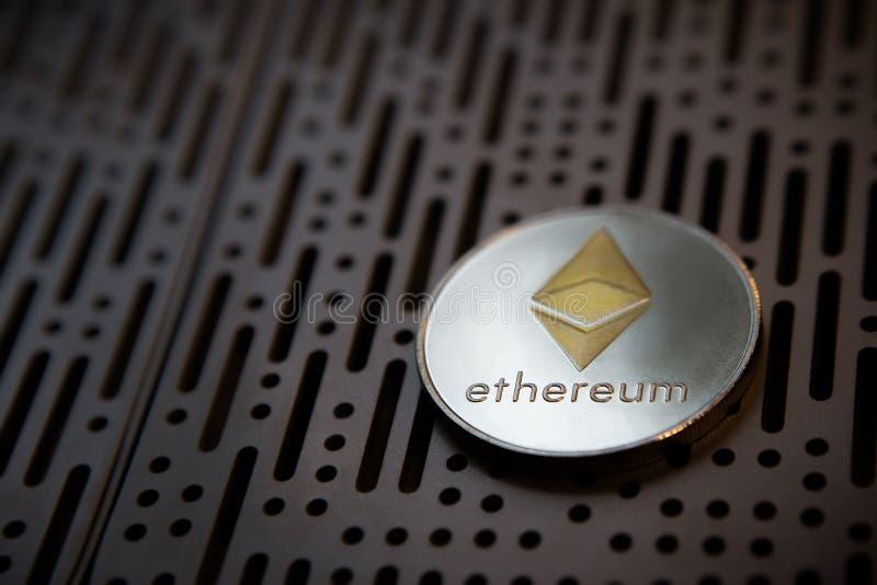 Dinero crypto de la moneda de la moneda de Ethereum foto de archivo