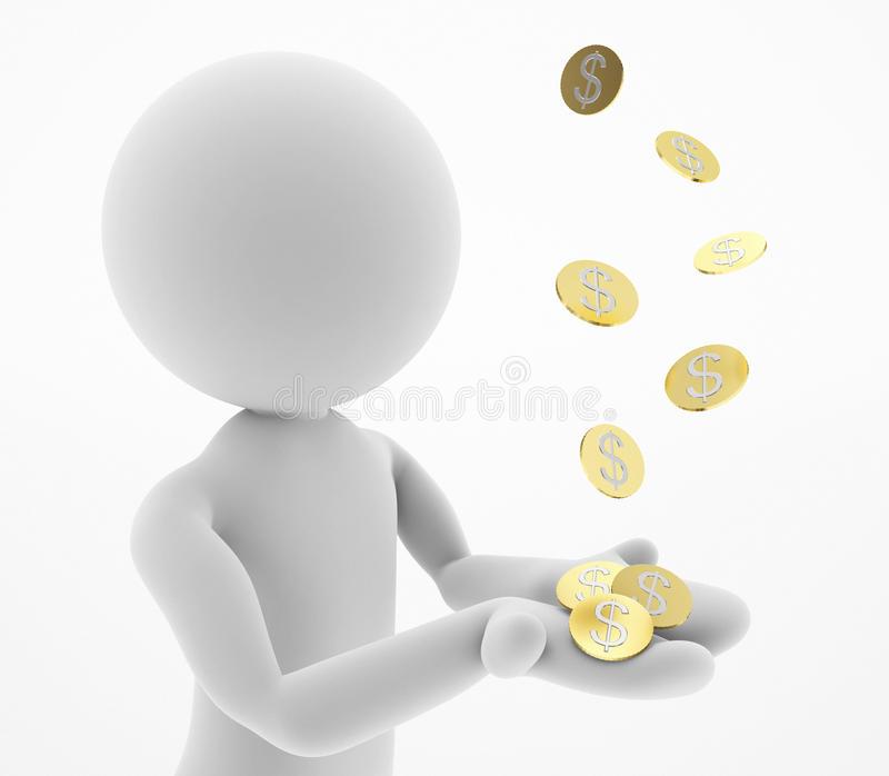 Dinero de cogida libre illustration