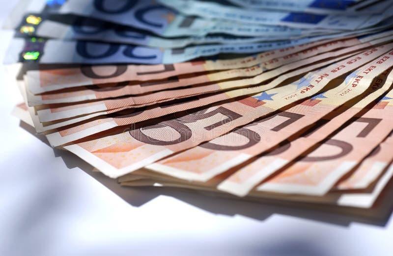 Dinero de Europa foto de archivo