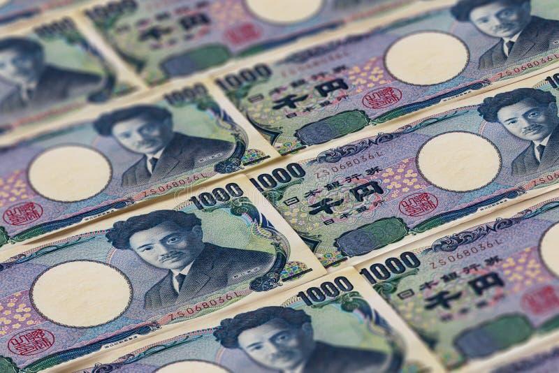 Dinero de Jap?n Mil billetes de banco de los yenes japoneses imagen de archivo