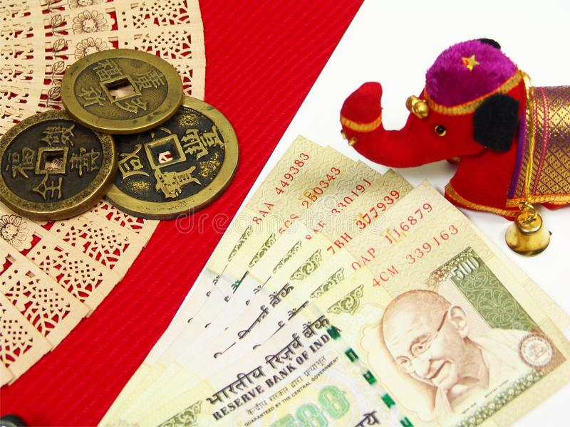 Dinero de la ANC China de la India foto de archivo