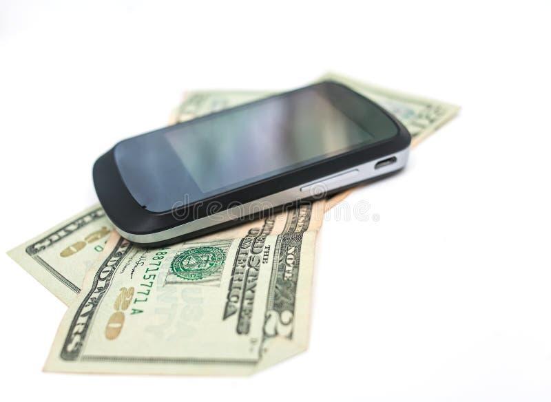 Dinero de la célula en blanco imagen de archivo