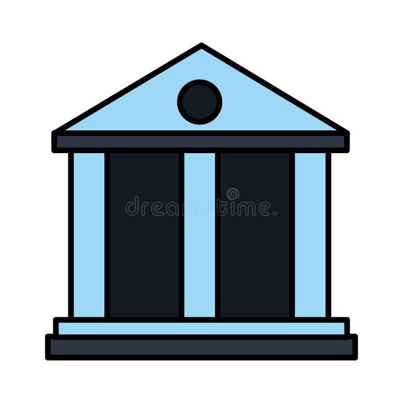 Dinero de la economía de las finanzas de edificio de banco libre illustration