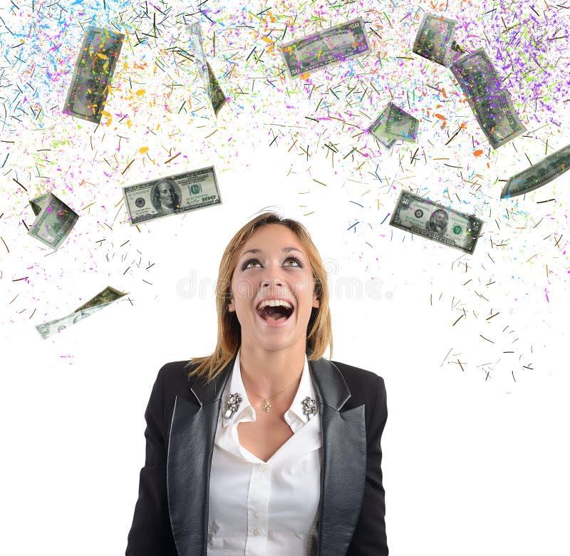 Dinero de la empresaria imagen de archivo libre de regalías