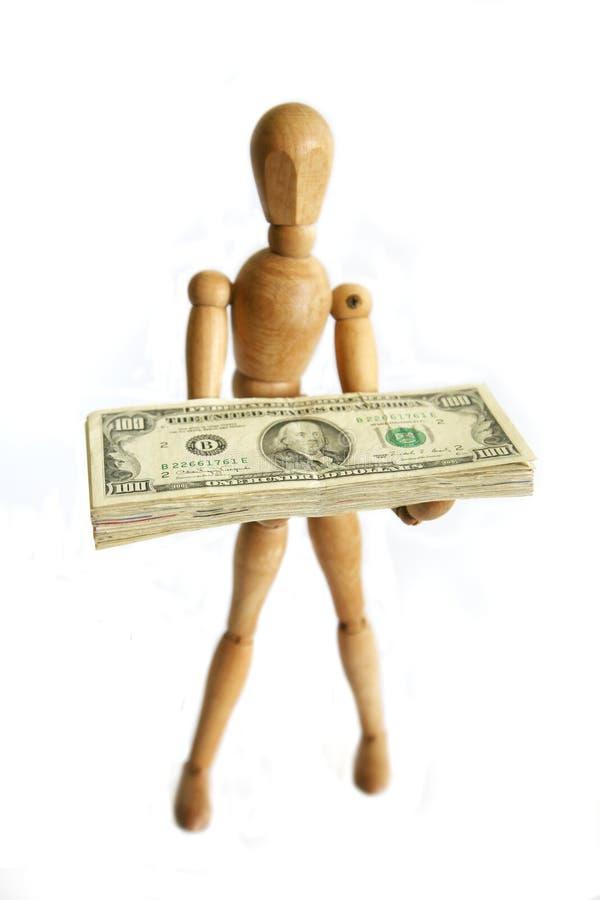 Dinero de la explotación agrícola del maniquí imagenes de archivo