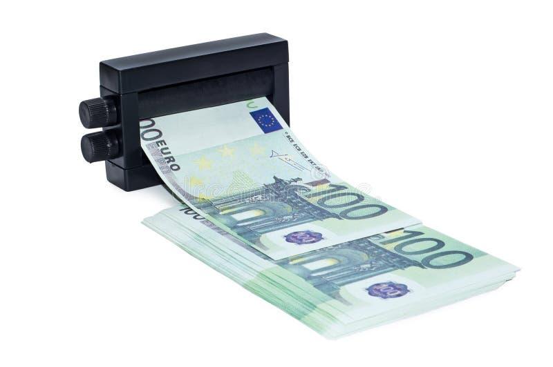 Dinero de la impresión de la máquina fotos de archivo libres de regalías