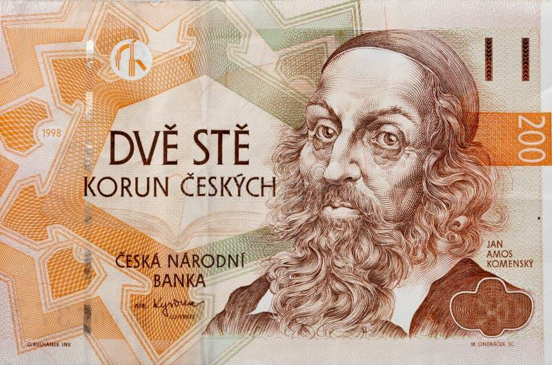 Dinero de la macro de la República Checa imagen de archivo libre de regalías