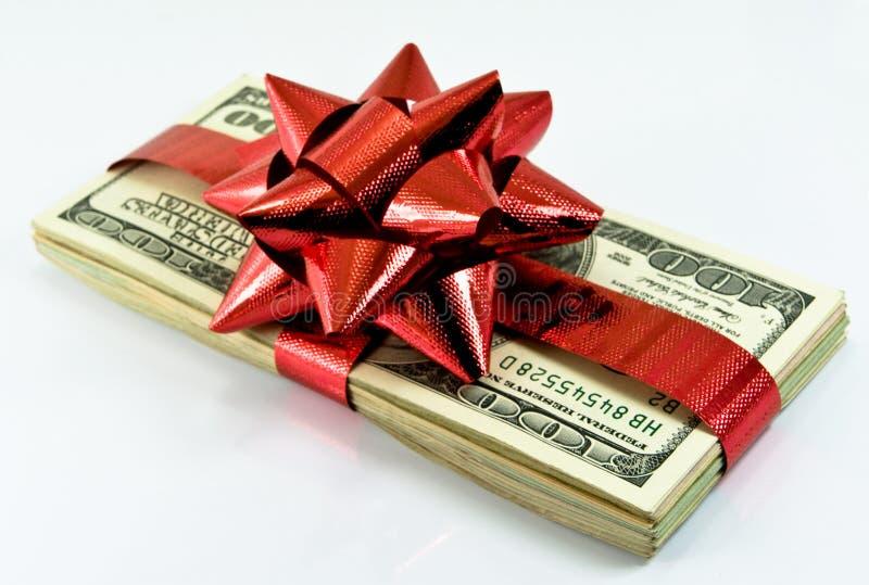 Dinero de la Navidad foto de archivo libre de regalías