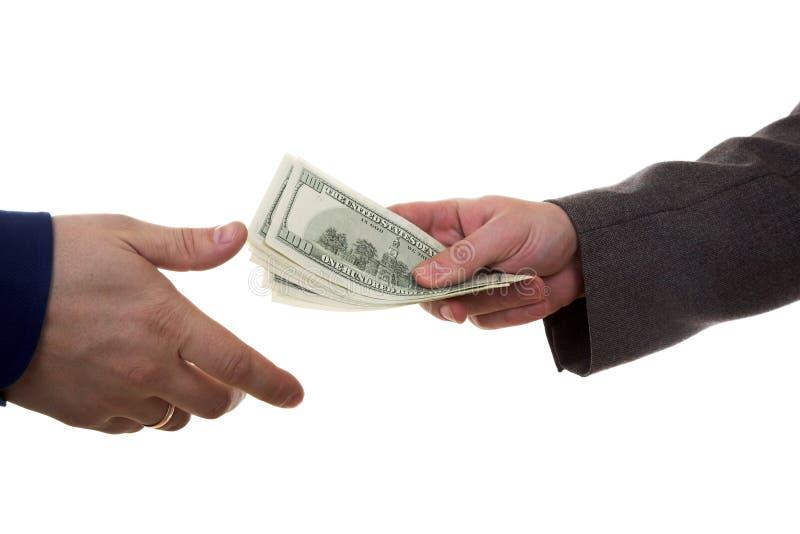 Dinero de la paga foto de archivo libre de regalías