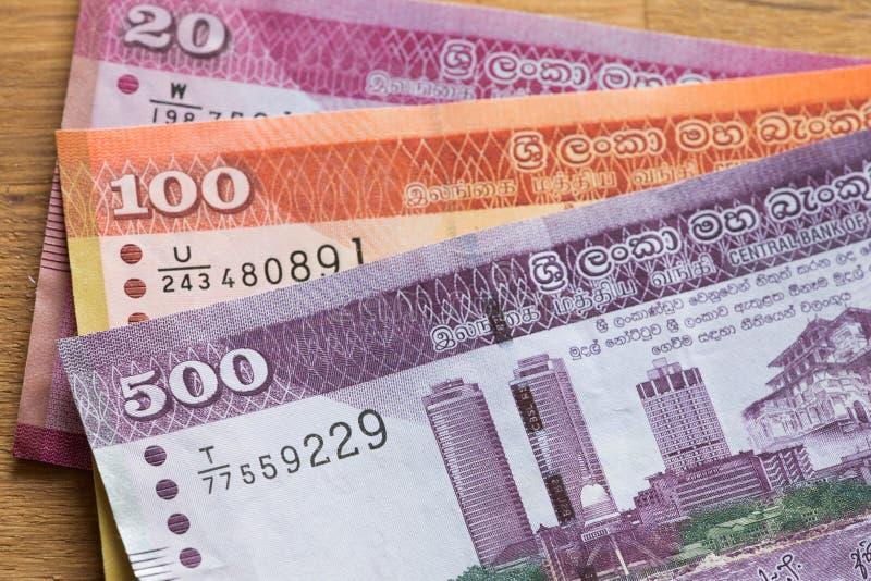 Dinero de la rupia de Sri Lanka imagen de archivo