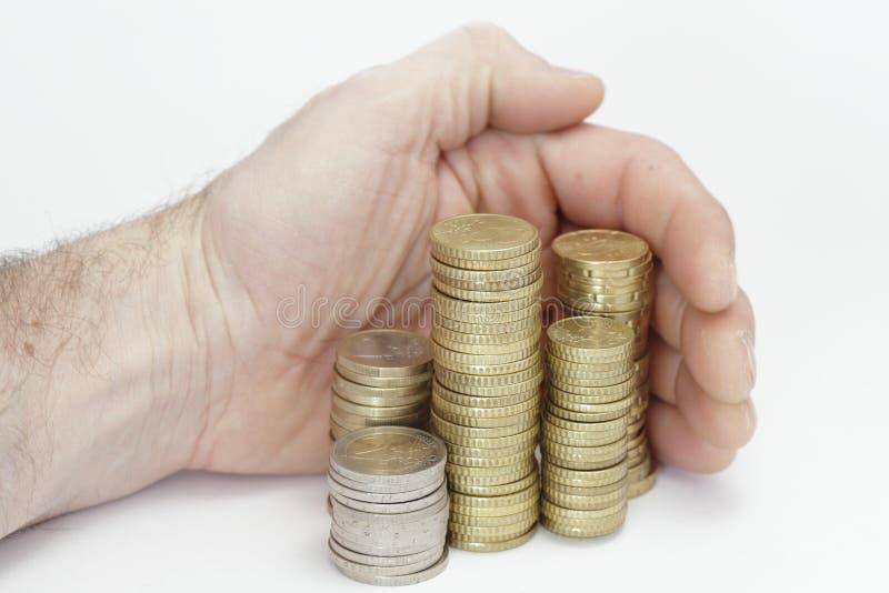 Dinero de la toma fotografía de archivo libre de regalías