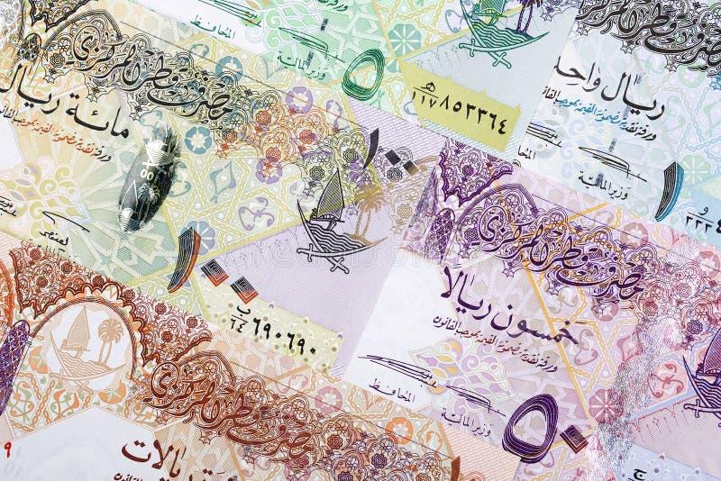 Dinero de Qatar, un fondo fotos de archivo
