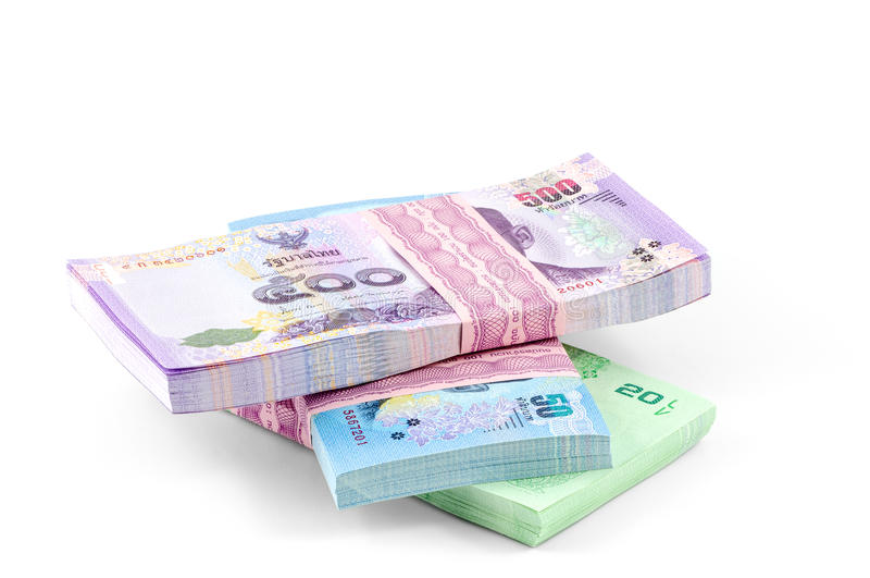 Dinero del baht tailandés fotos de archivo libres de regalías