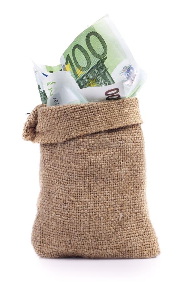 Dinero del bolso foto de archivo libre de regalías