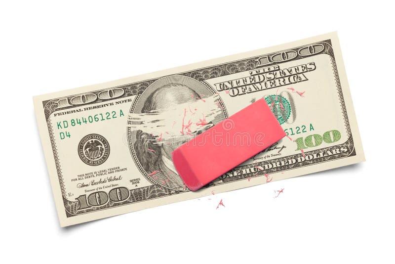 Dinero del borrado fotografía de archivo
