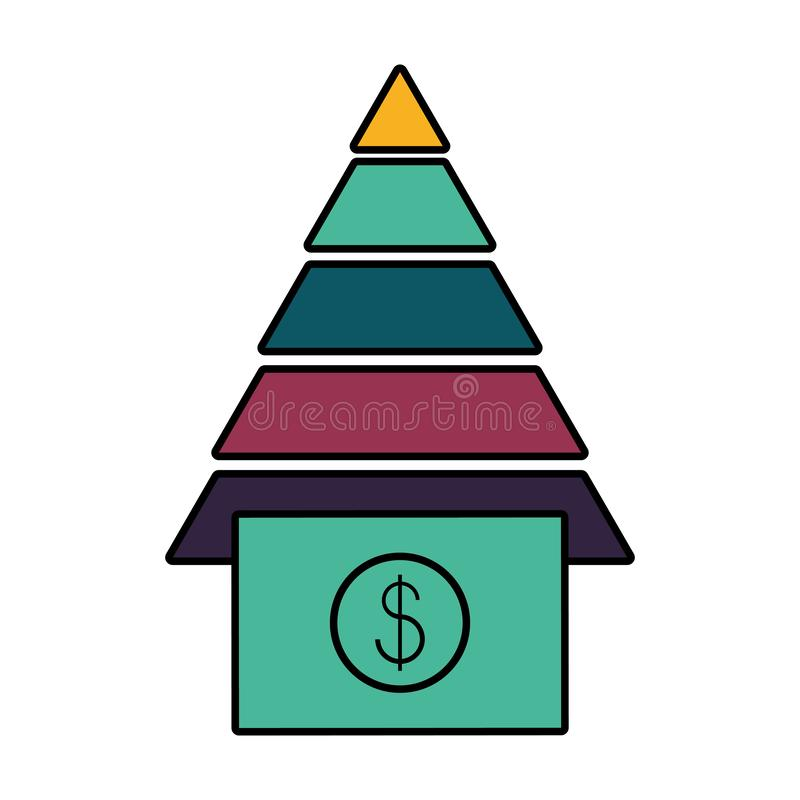 Dinero del dólar de Bill con la pirámide stock de ilustración