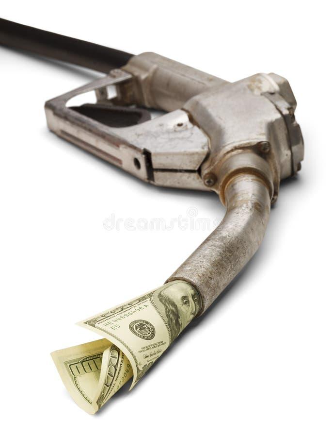 Dinero del gas imagenes de archivo