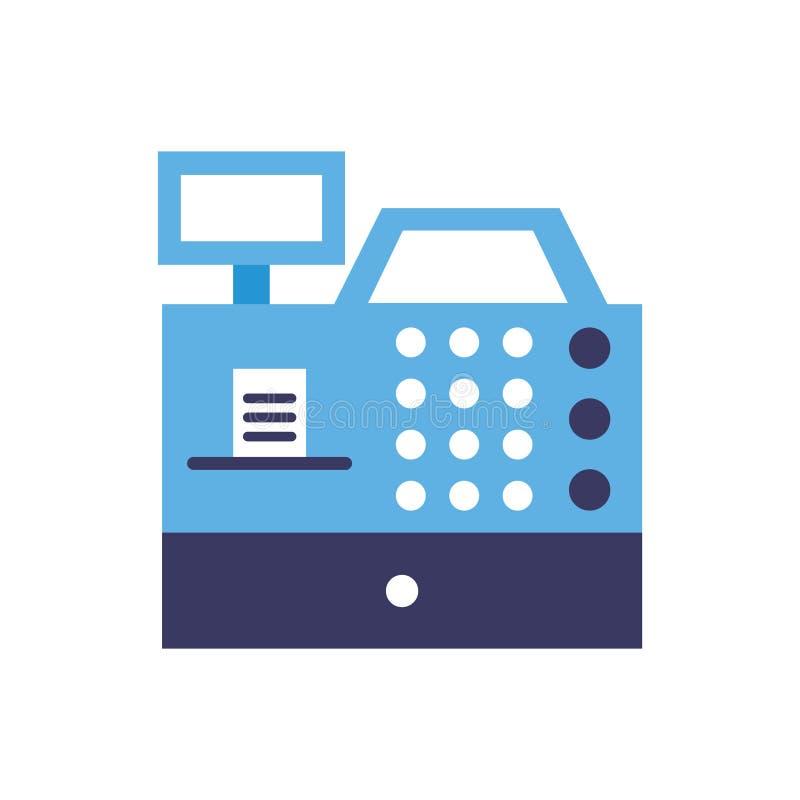 Dinero del mercado del comercio de la caja registradora ilustración del vector