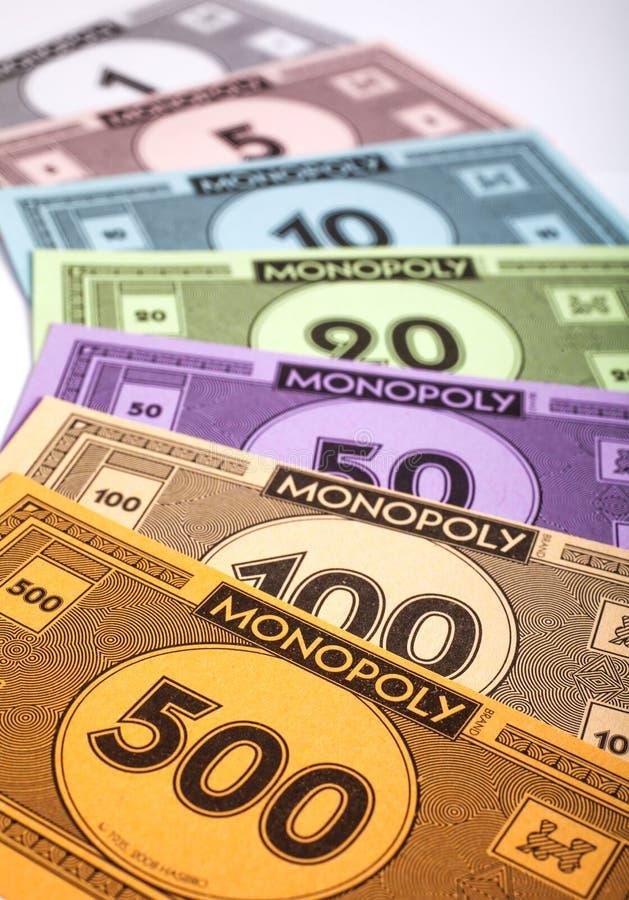 Dinero del monopolio imagenes de archivo