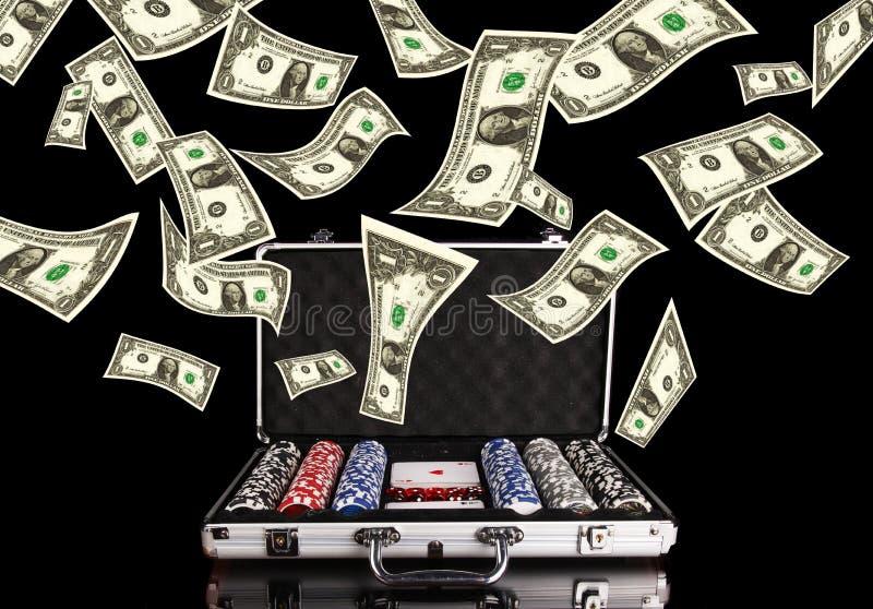 Dinero del póker imágenes de archivo libres de regalías