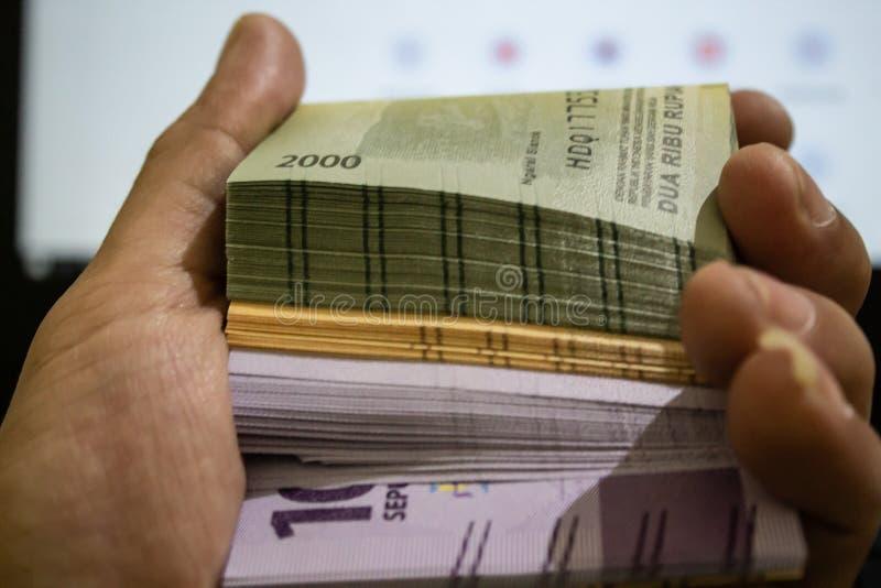 Dinero del rupia de Indonesia fotografía de archivo