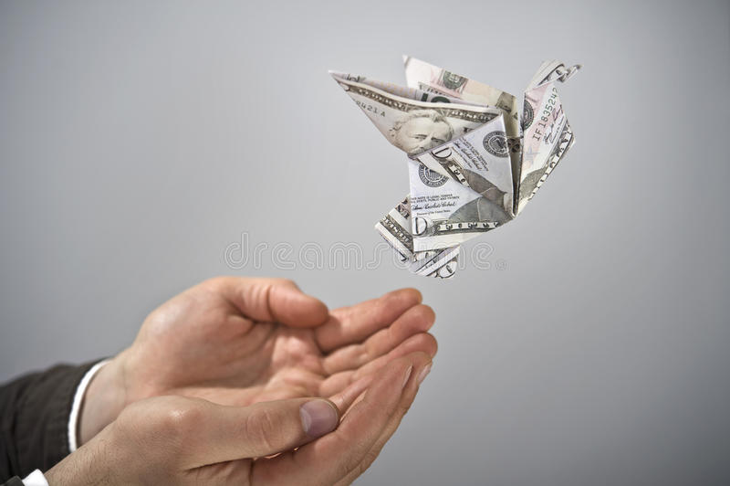 Dinero del vuelo imagen de archivo