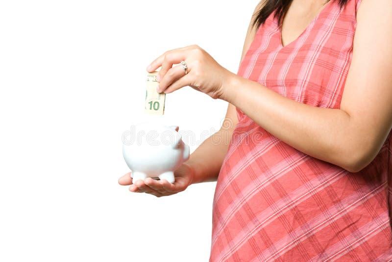Dinero embarazado imagen de archivo libre de regalías