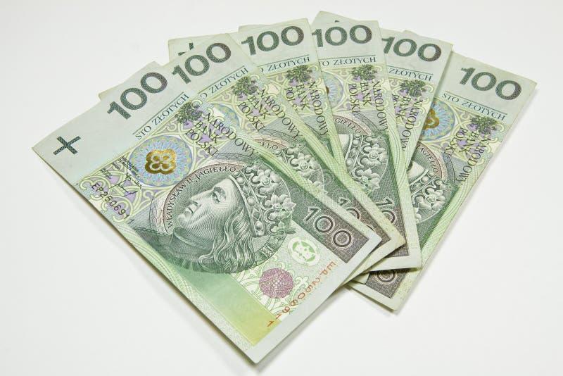 Dinero en circulación 100 de Polonia PLN foto de archivo