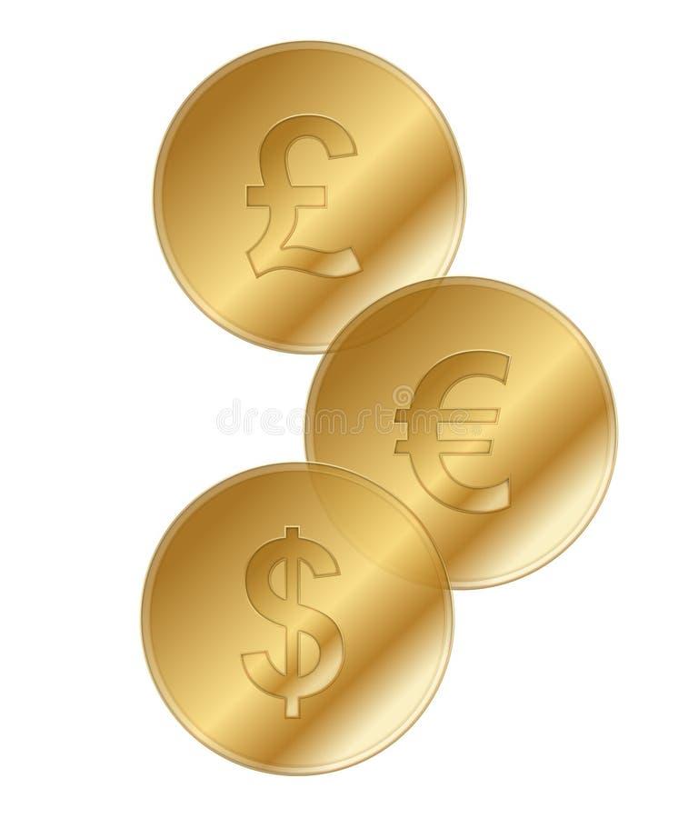 Dinero en circulación stock de ilustración