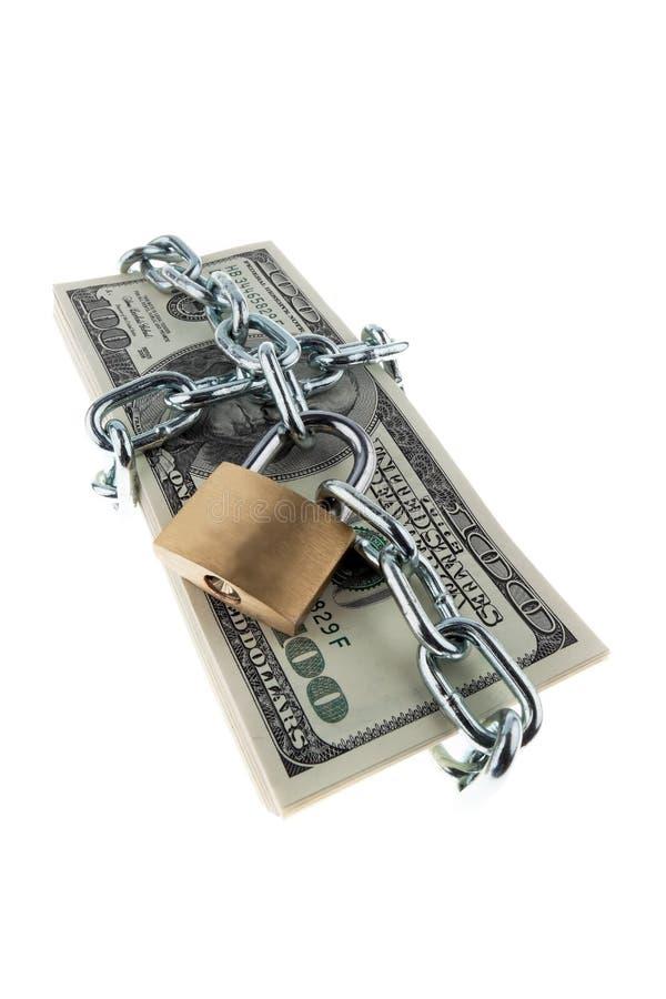 Dinero en circulación americano bloqueado fotos de archivo