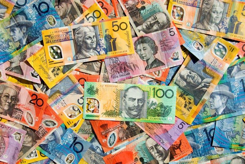 Dinero en circulación australiano fotos de archivo