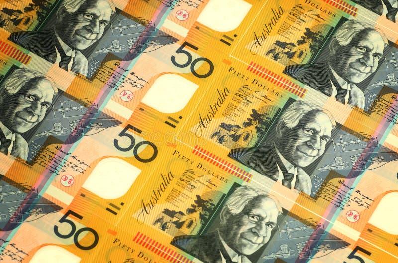 Dinero en circulación australiano foto de archivo